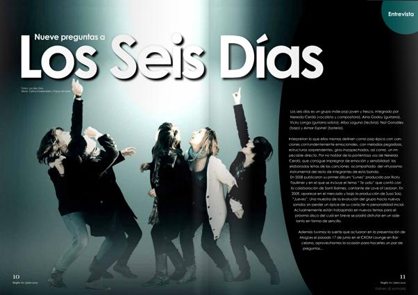 MagLes Revistas Lesbianas Los seis dias