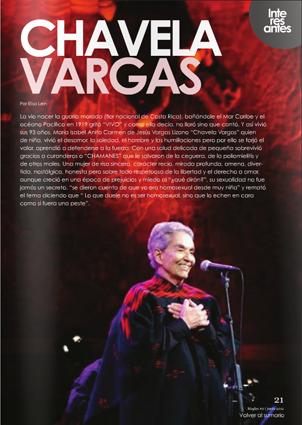 MagLes Revista Lesbiana Chavela Vargas