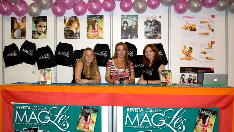 MagLes en Área de Mujeres, Salón Erótico Barcelona.