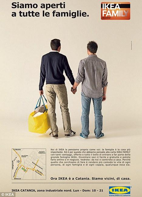 Ikea elimina un anuncio de Lesbianas