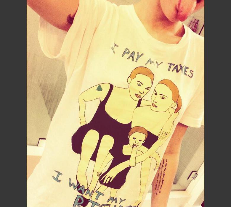 Miley Cyrus apoya los derechos de las lesbianas-
