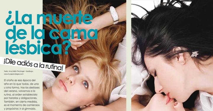 Las Lesbianas y la rutina en la cama