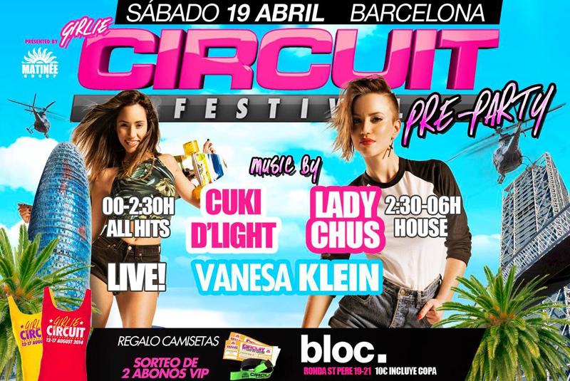 Pre Party Girlie Circuit Festival 2014