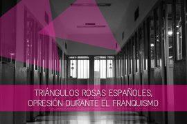 triángulos rosas