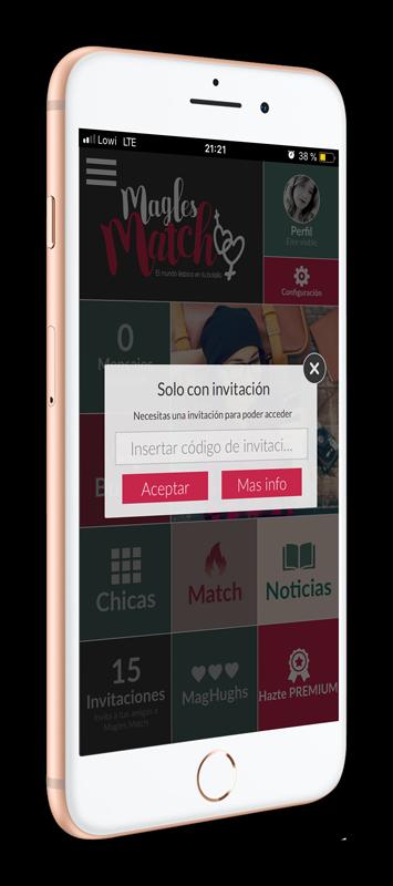 MagLes Match app código de invitación