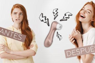 antes y después del succionador de clítoris
